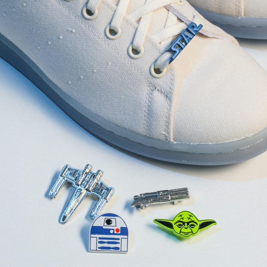 Adidas Stan Smith Luke Skywalker blanc cassé et bleue (2)