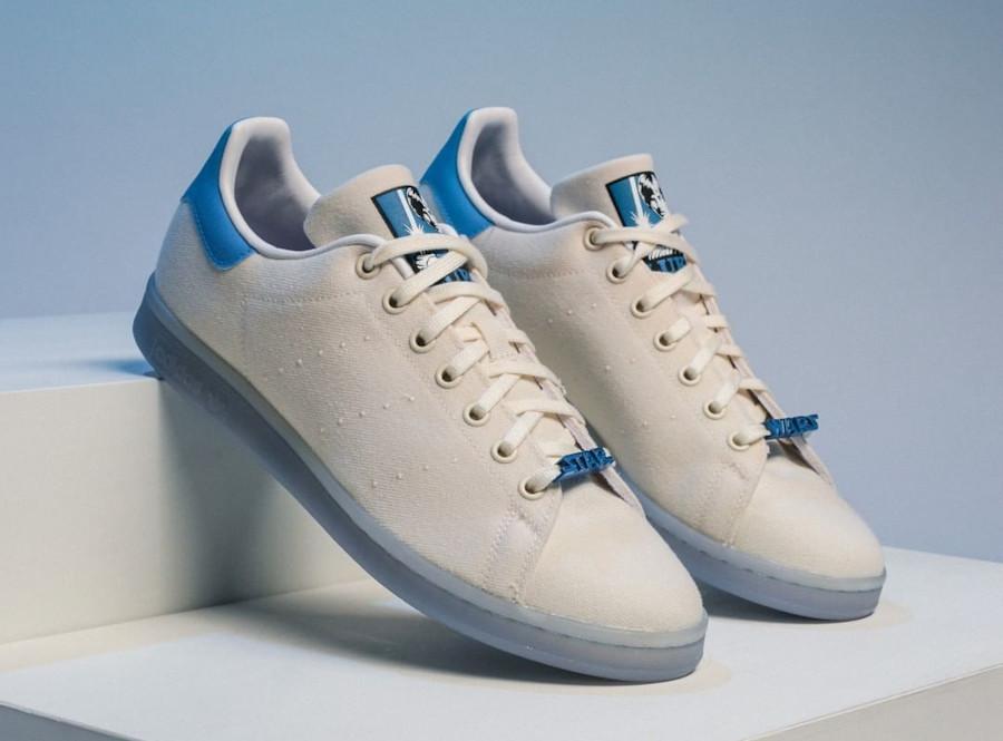 Adidas Stan Smith Luke Skywalker blanc cassé et bleue FX9306