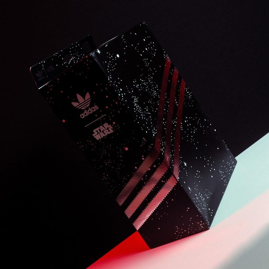 Adidas Superstar Darth Vader noire et rouge (1)