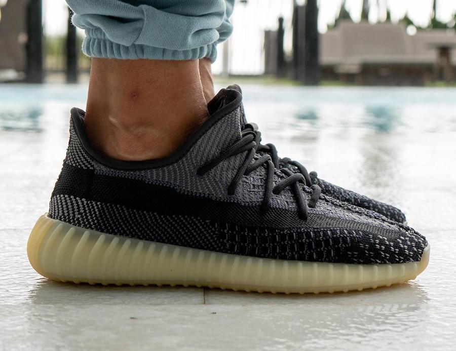 Adidas Yeezy Boost 350 V2 2020 en Primeknit gris et noir (4)
