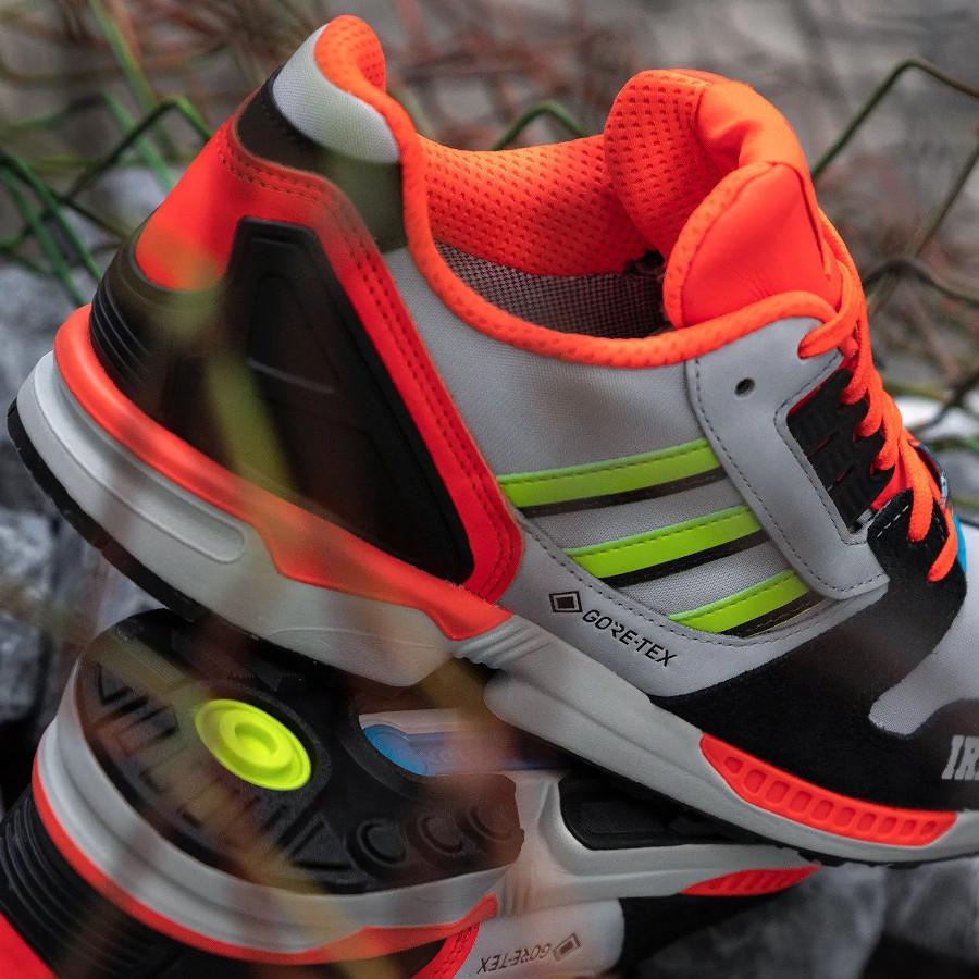 Adidas ZX 8000 gris orange fluo noir FX0371 (1)