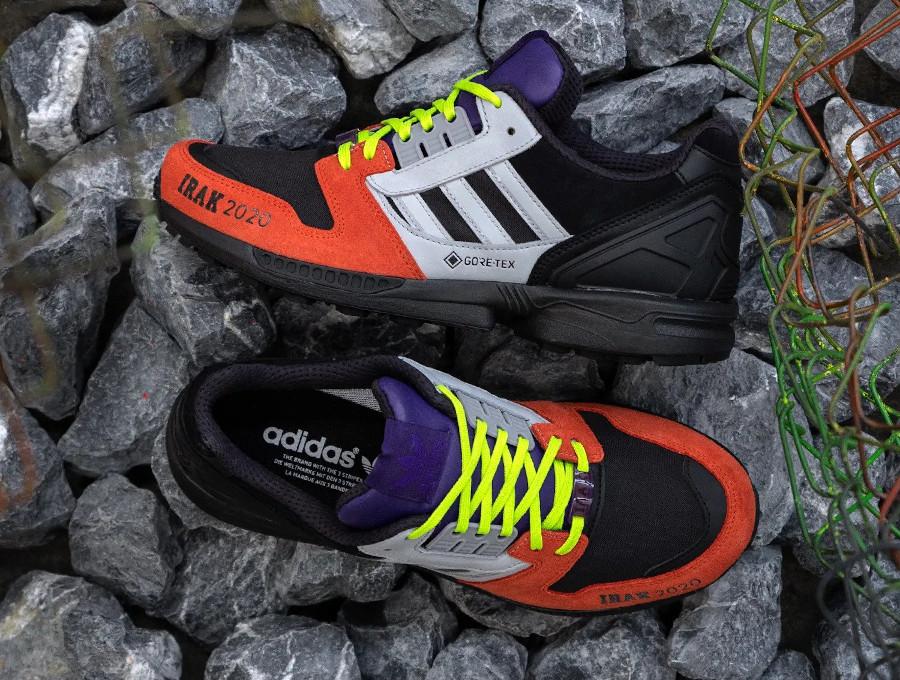 Adidas ZX 8000 noir gris orange fluo violet FX0372 (2)