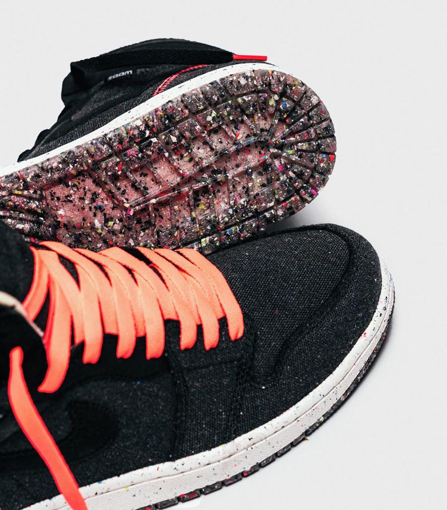 Air Jordan 1 recyclée grise et noire (1)