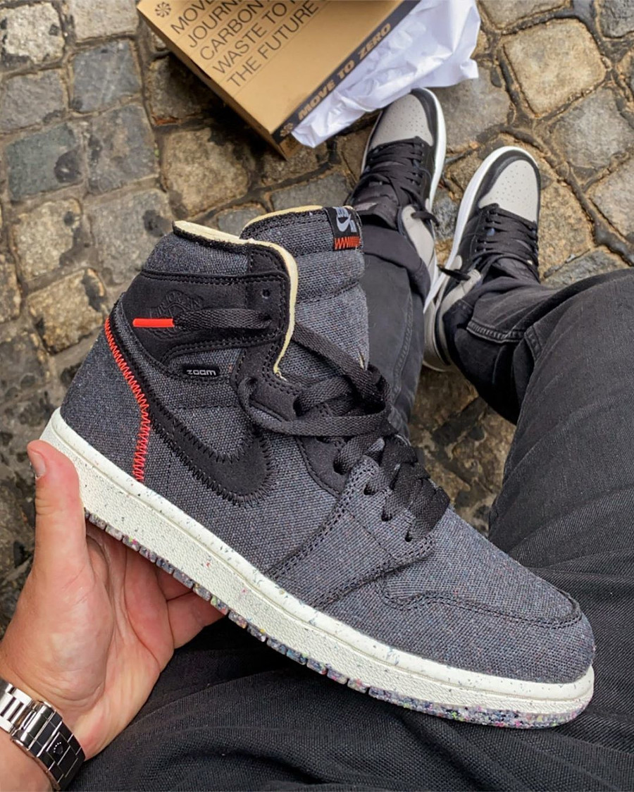 Air Jordan 1 recyclée grise et noire (2)