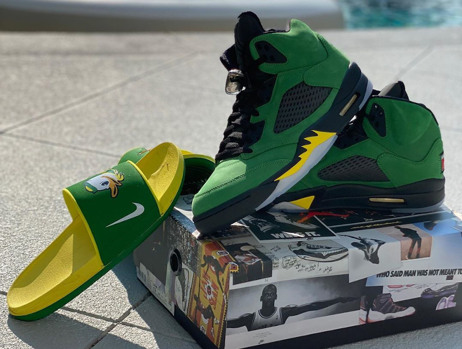 Air Jordan 5 Retro Oregon Ducks Apple Green CK6631-307