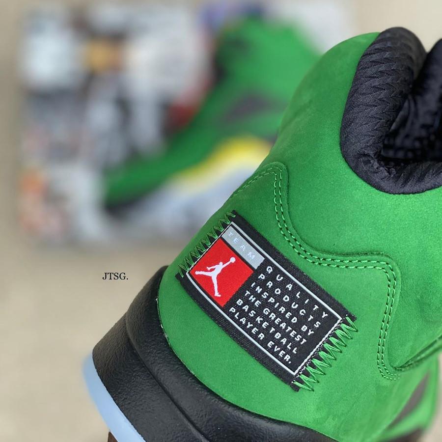 Air Jordan 5 V 2020 en daim vert pomme (6-1)