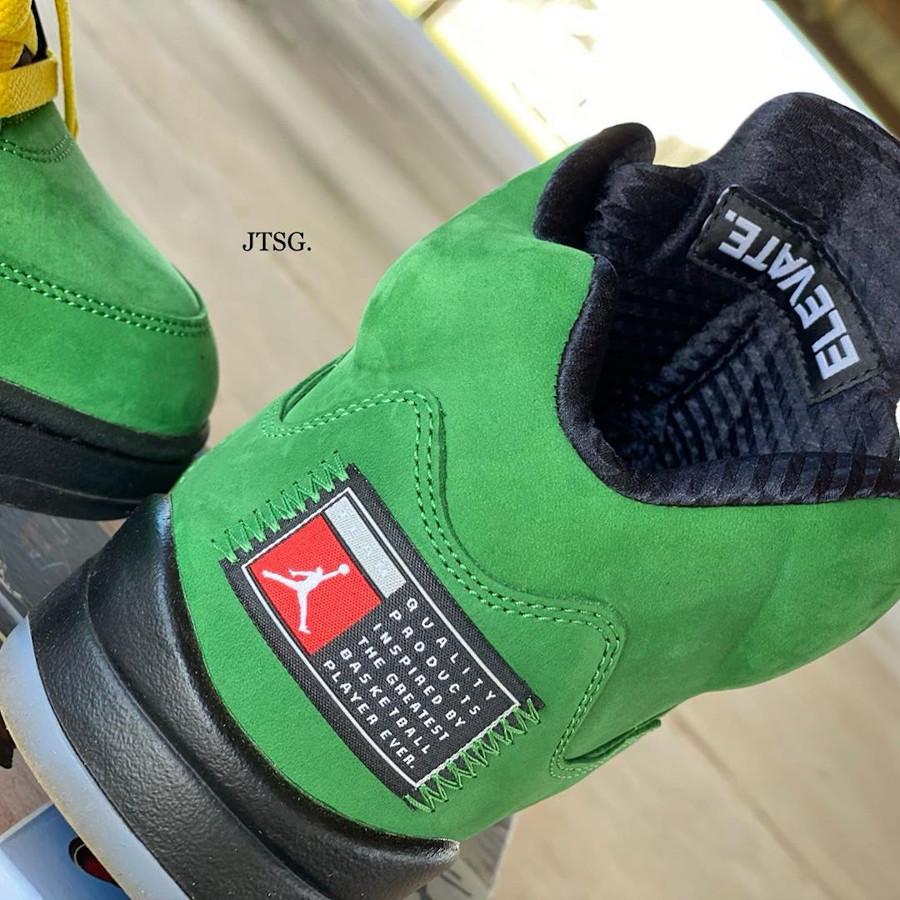 Air Jordan 5 V 2020 en daim vert pomme (6)