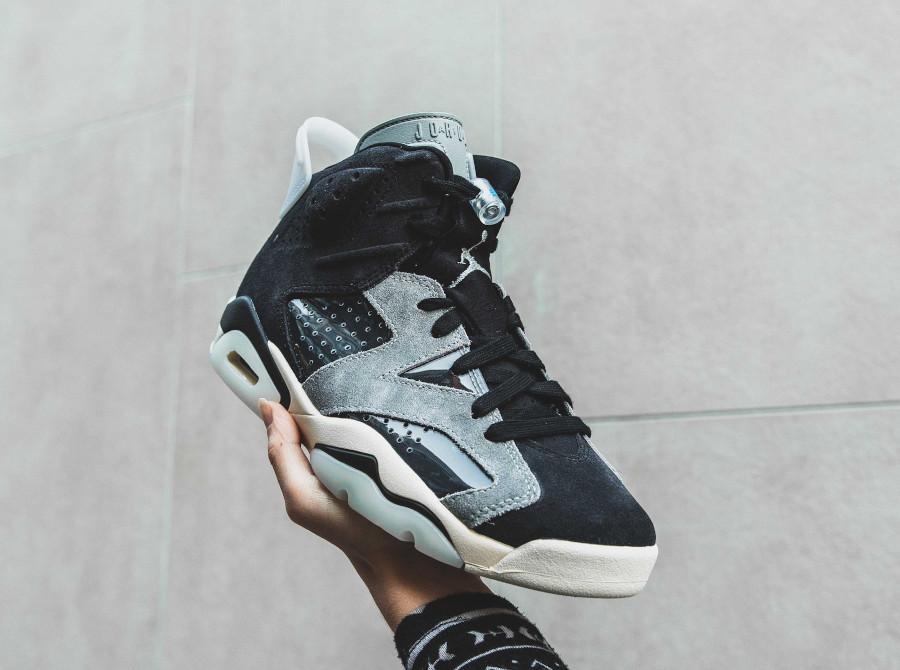 Air Jordan VI femme 2020 grise et noire (1)