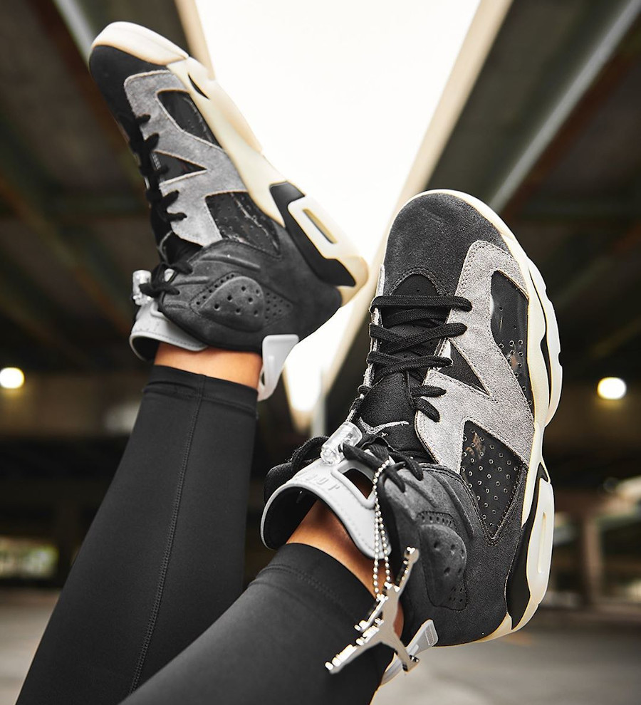 Air Jordan VI femme 2020 grise et noire (4)