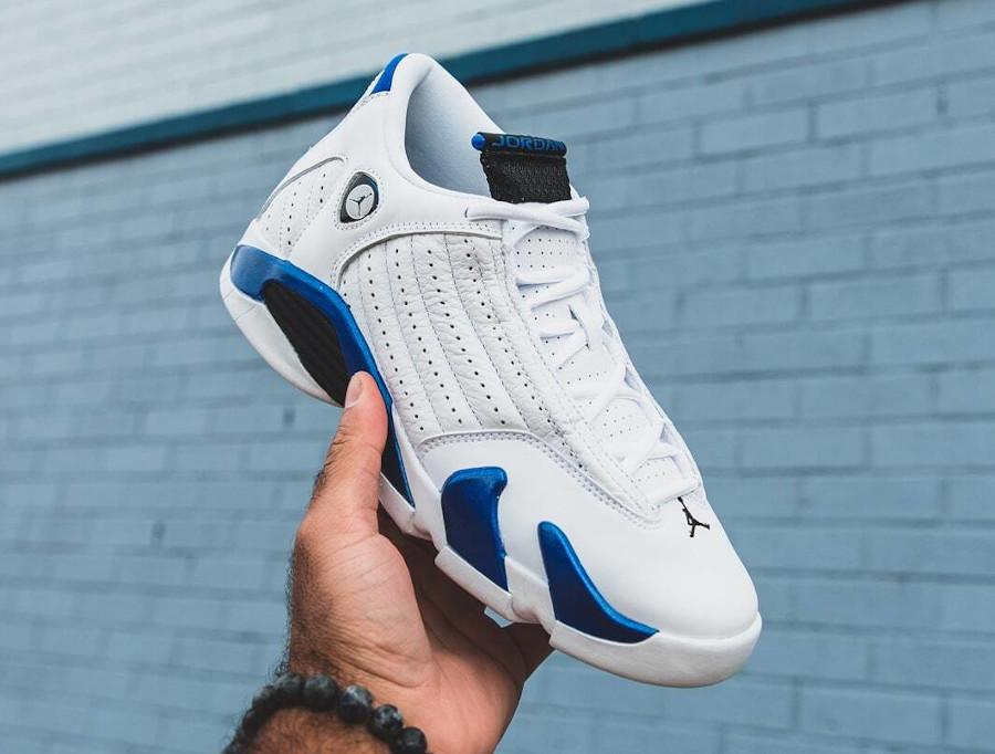 Air Jordan XIV 2020 blanche et bleu (1)