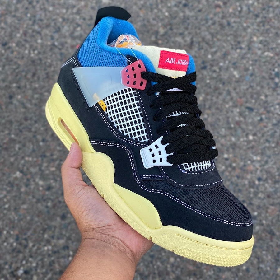 Chris Gibbs x Air Jordan 4 Black (languette basse) (1)