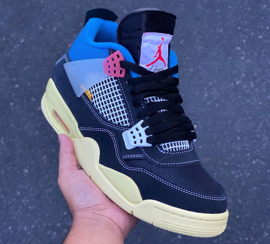 Chris Gibbs x Air Jordan 4 Black (languette haute) (1)