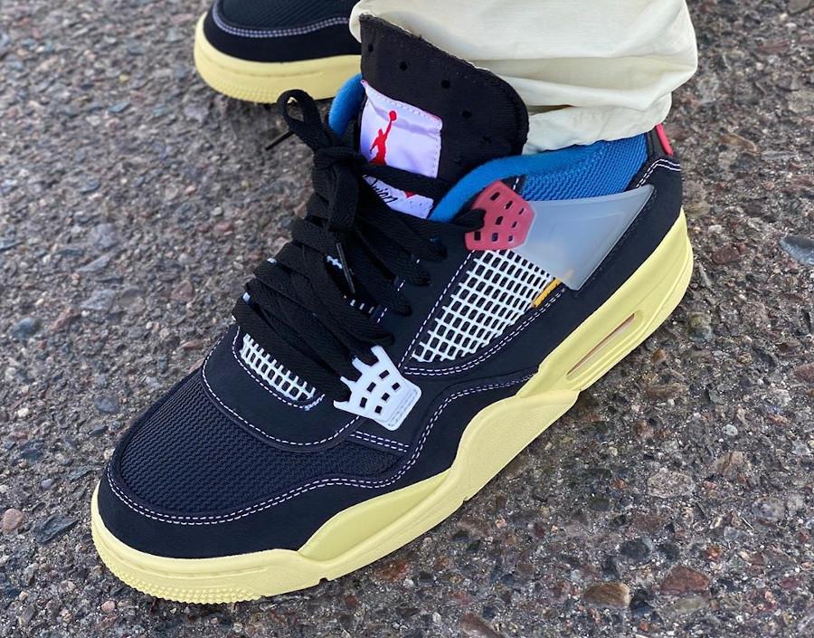 Chris Gibbs x Air Jordan 4 Black (languette haute) (2)