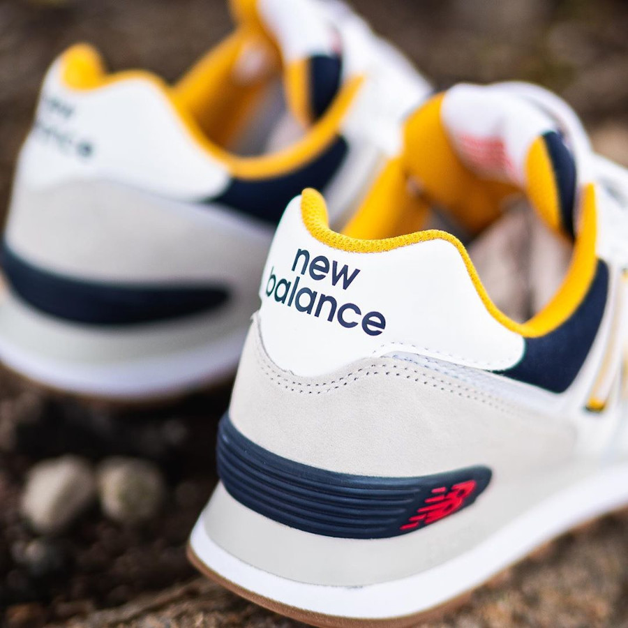 New Balance 574 2020 blanche grise et jaune (1)