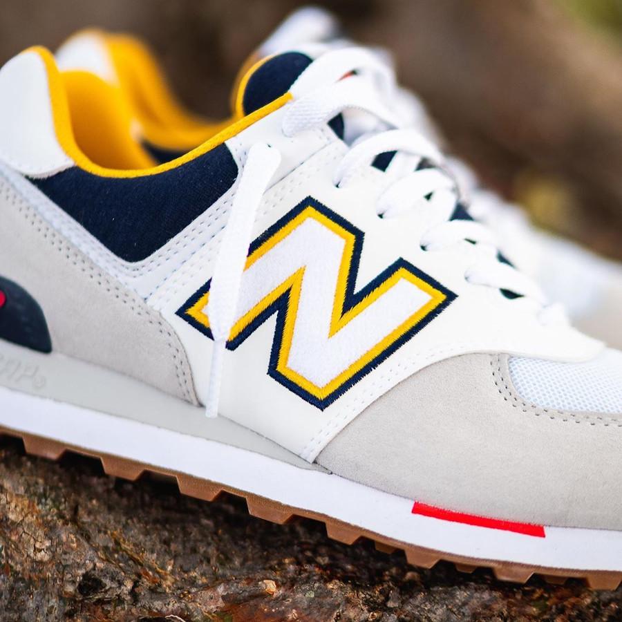 New Balance 574 2020 blanche grise et jaune (2)