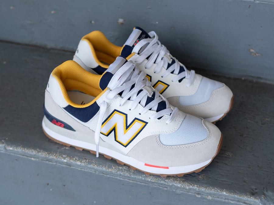 New Balance 574 2020 blanche grise et jaune (4)