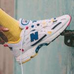 New Balance 827 White Atomic Yellow