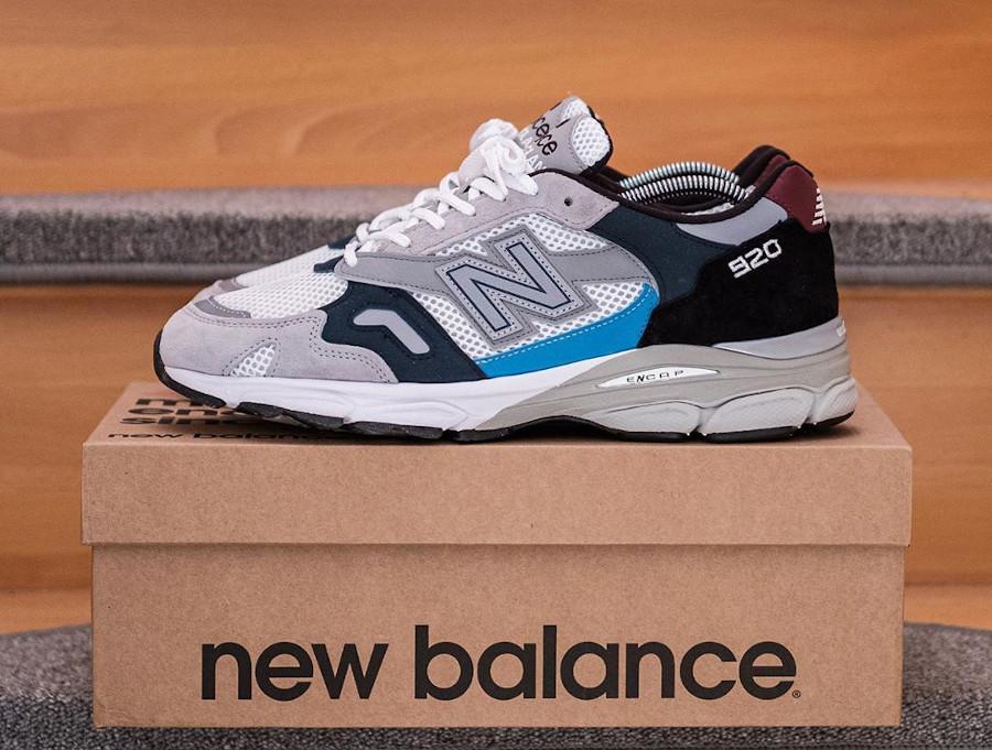New Balance 920 OG grise blanche noir et bleu foncé (1)