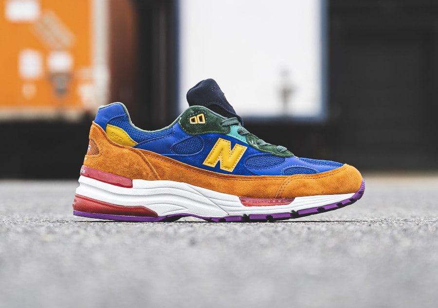 New Balance 992 2020 Blue Orange (1)