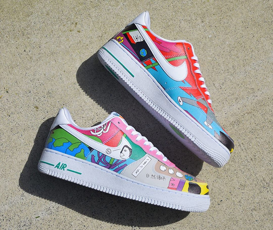 Nike AF1 Flyleather QS multicolore CZ3990-900 (1)