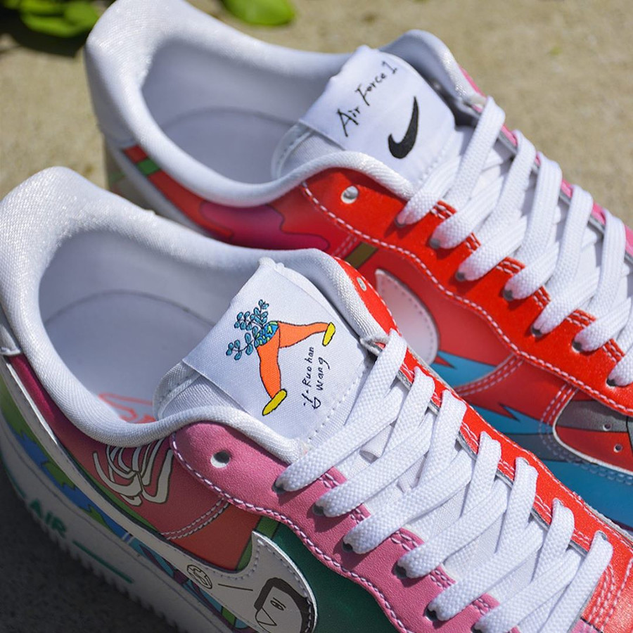 Nike AF1 Flyleather QS multicolore CZ3990-900 (3)