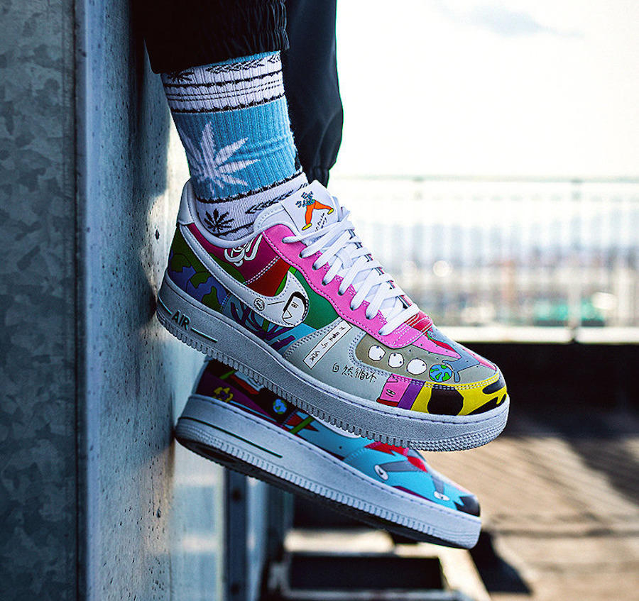 Nike AF1 Flyleather QS multicolore CZ3990-900 (4)