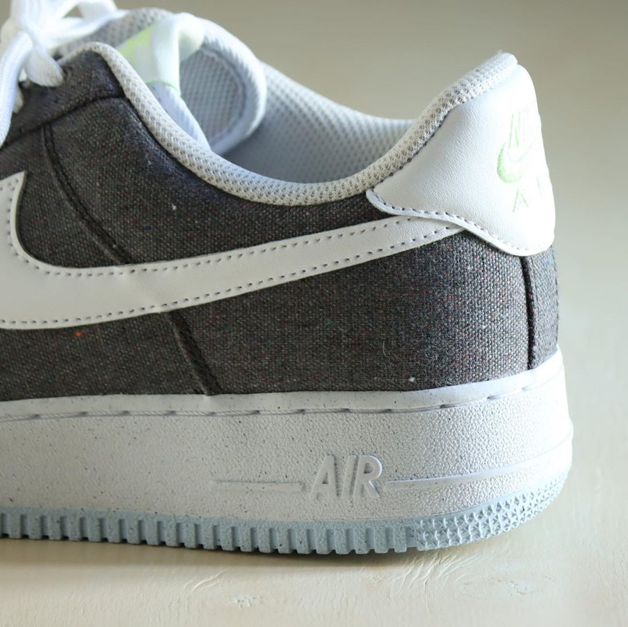 Nike Air Force One Low en toile recyclée grise (3)