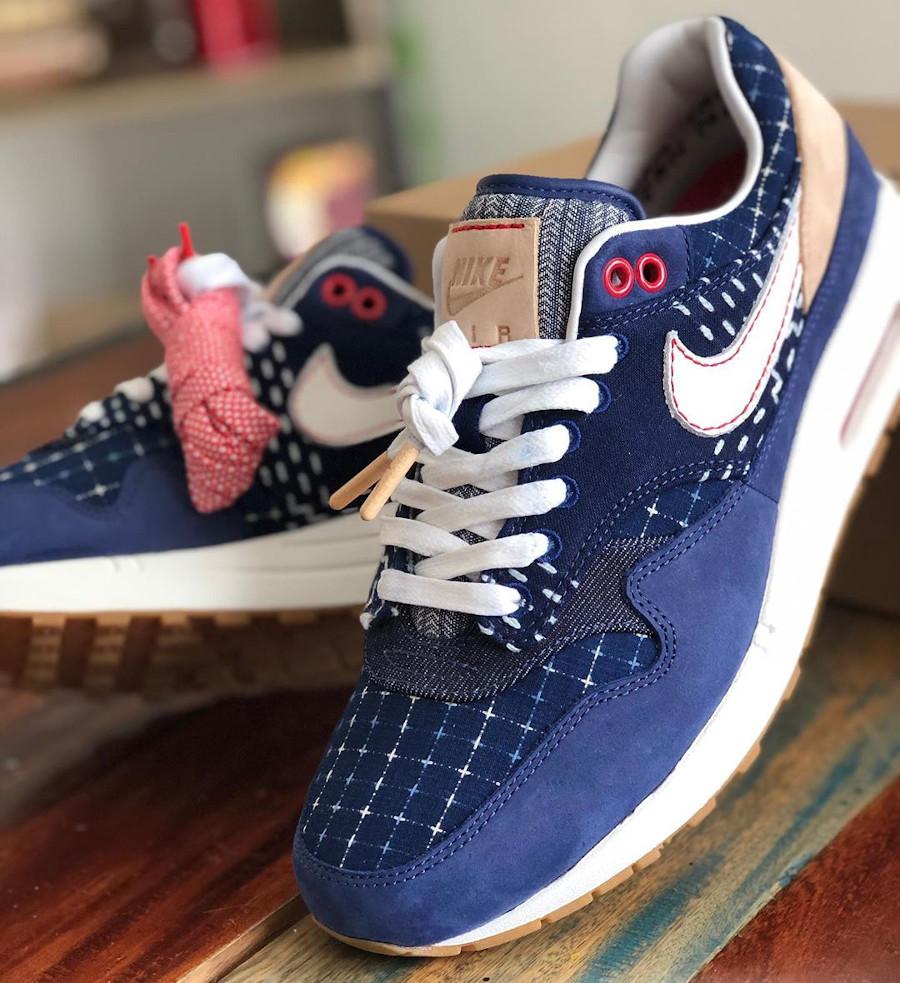 Nike Air Max 1 en jeans japonais bleu foncé (4)