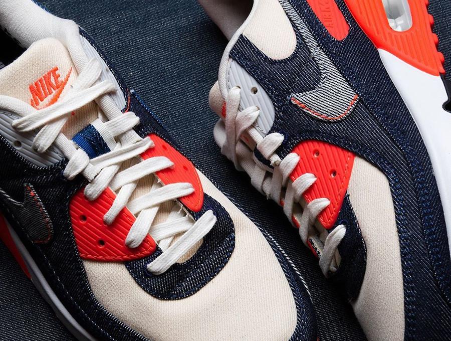 Nike Air Max 90 DNHM Infrarouge en denim (5)