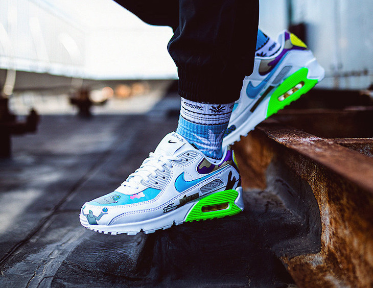 Nike Air Max 90 Flyleather QS CZ3992-900 on feet