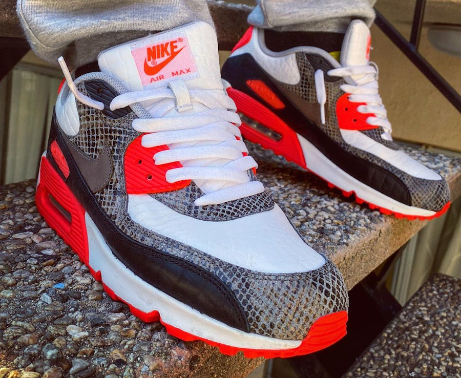 Nike Air Max 90 ID By You Infrared Reptile - @afrokix