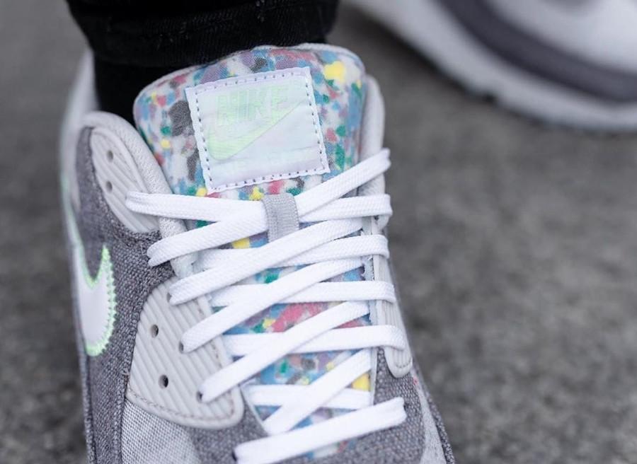 Nike Air Max 90 en toile recyclée grise (1)