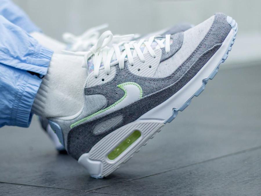 Nike Air Max 90 en toile recyclée grise (3)