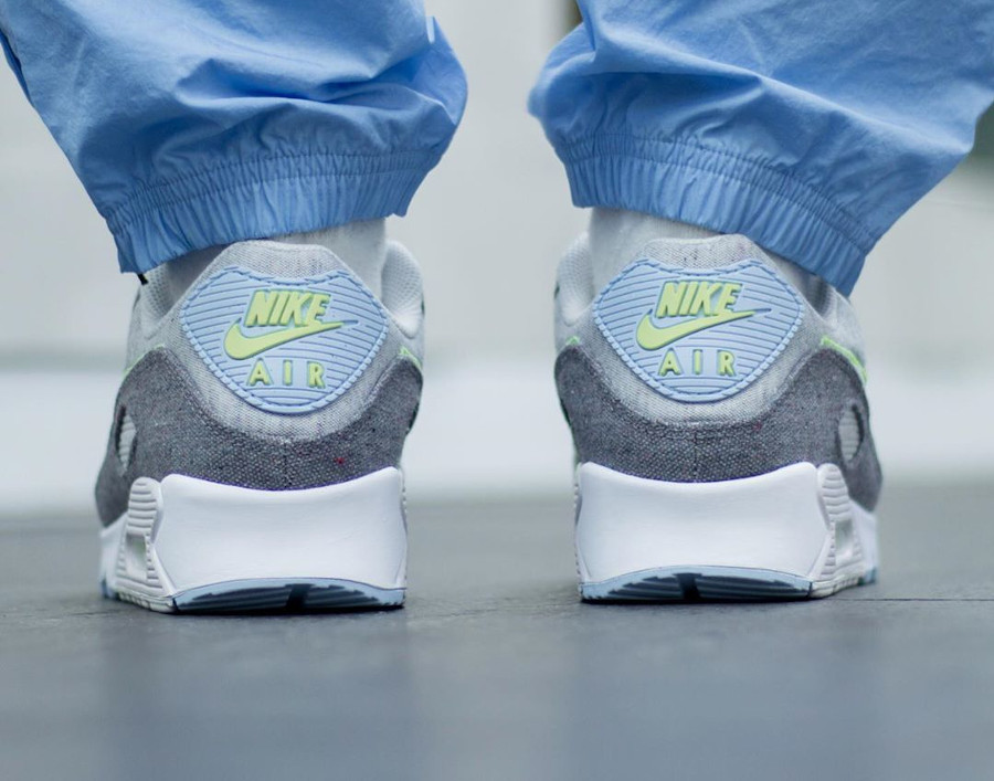 Nike Air Max 90 en toile recyclée grise (4)