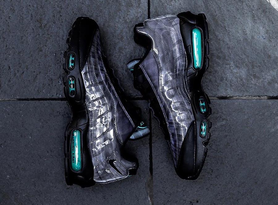 Nike Air Max 95 noire avec imprimé squelette (3)