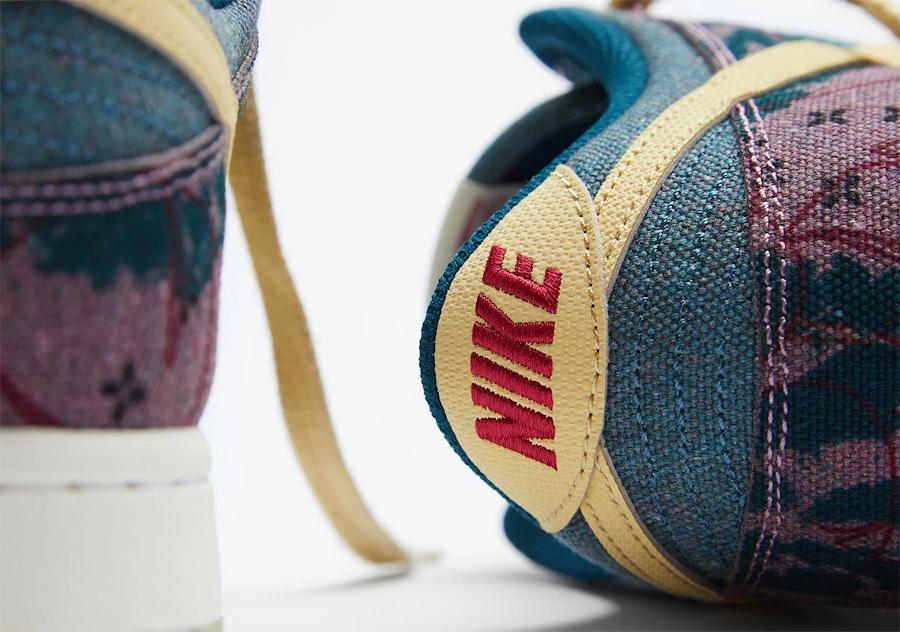 Nike Dunk Low Space Hippie en toile recyclé (imprimé à fleurs) (3)