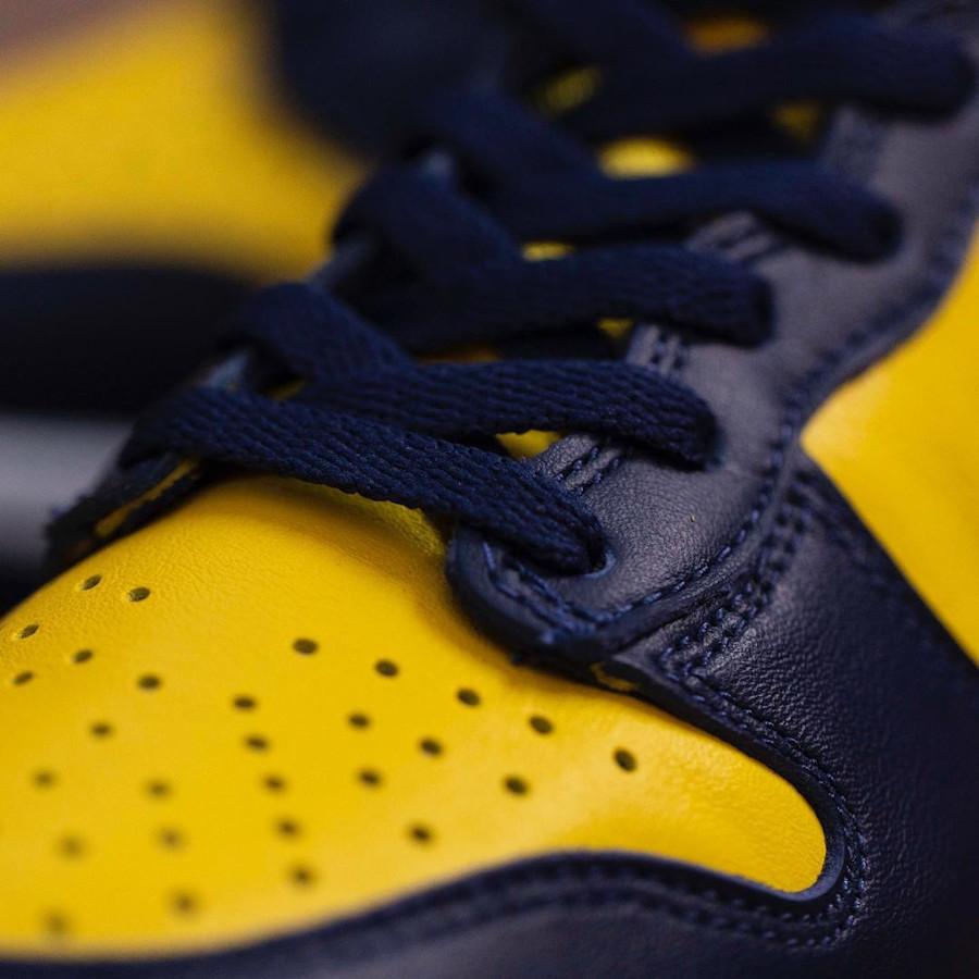 Nike Dunk montante M jaune et bleu foncé (2)