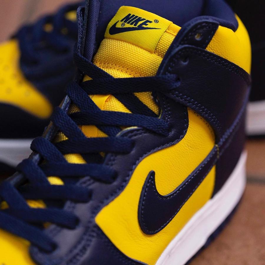 Nike Dunk montante M jaune et bleu foncé (6)