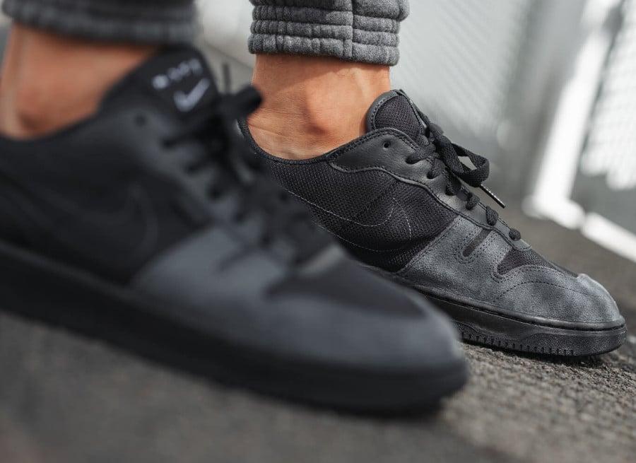 Nike Squash Type N.354 noire et grise on feet (4)