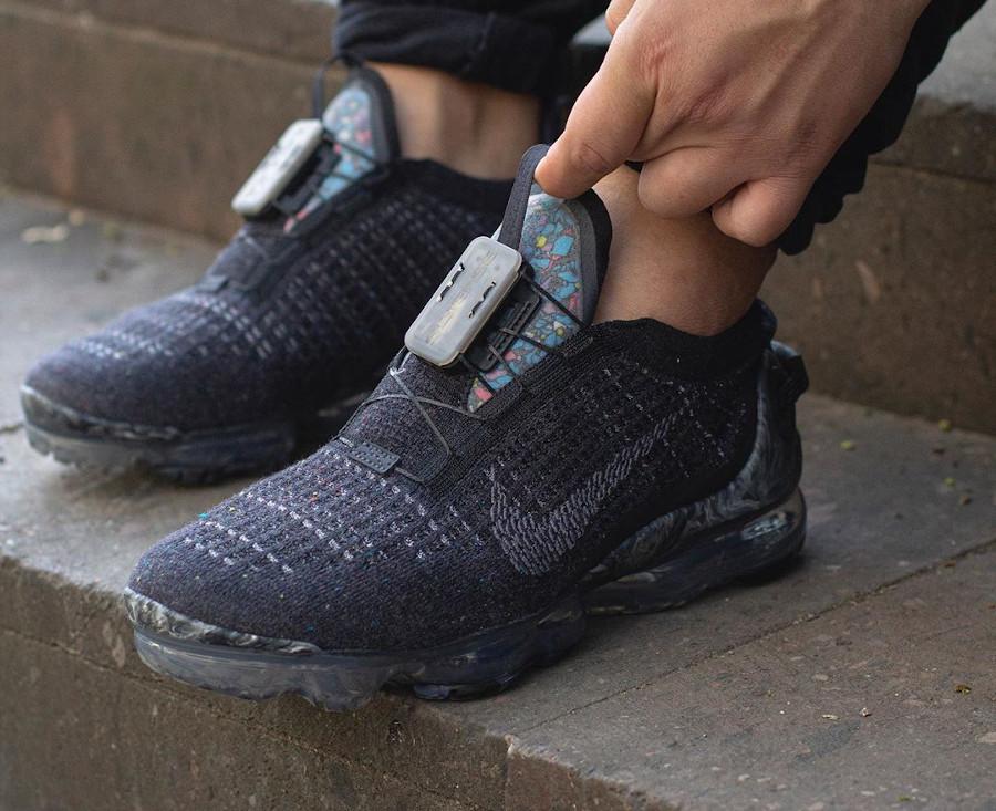 Nike Vapormax Flyknit 2020 Space Hippie gris et noir (5)