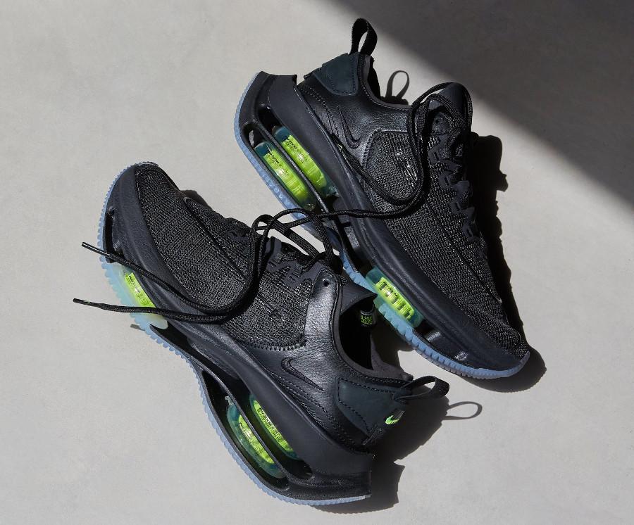 Nike Zoom Double Stacked noire et vert fluo CI0804-001 (1)