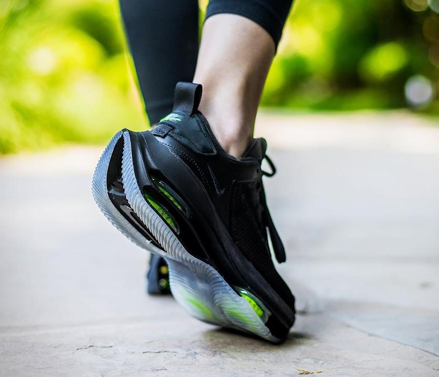 Nike Zoom Double Stacked noire et vert fluo CI0804-001 (3)