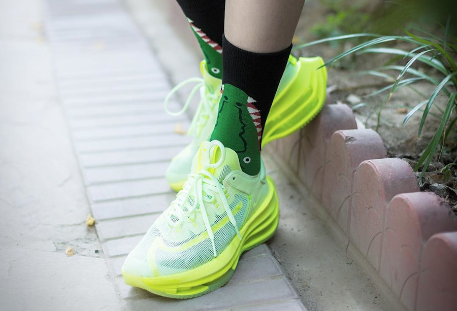 Nike Zoom Double Stacked vert et jaune fluo CI0804-700 (2)
