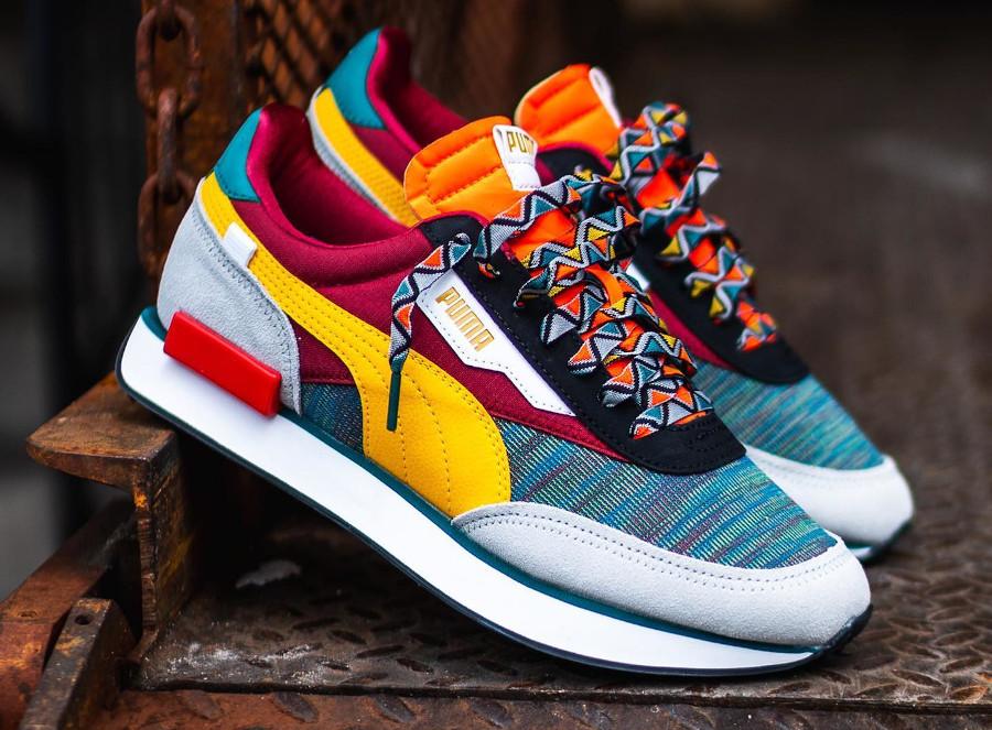 Puma Future Rider Mix 2020 multicolore (style africain) (1)