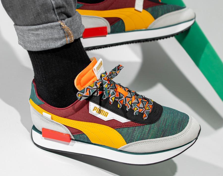 Puma Future Rider Mix 2020 multicolore (style africain) (2)