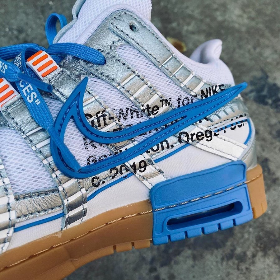 Virgil Abloh x Nike Air Rubber Pegasus Dunk blanche et bleue (1)