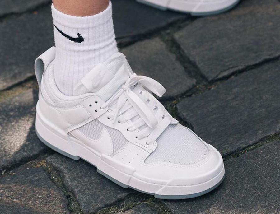 Women's Nike Dunk Low Disrupt blanche et grise CK6654 001