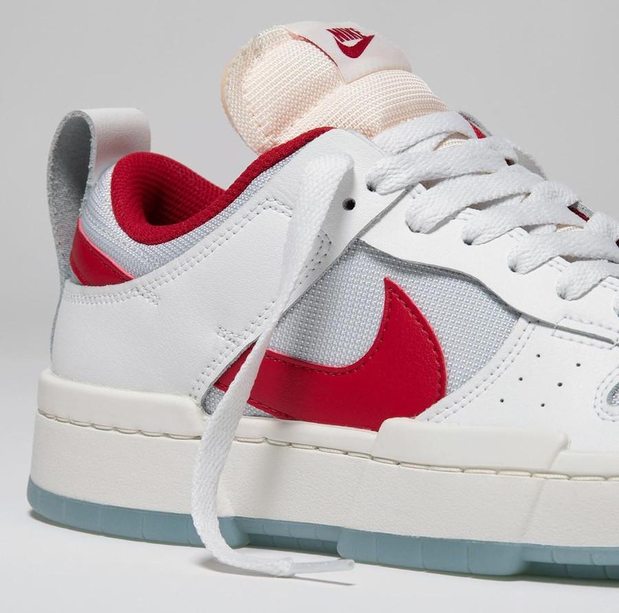 Women's Nike Dunk Low Disrupt blanche et rouge CK6654 101 (1)