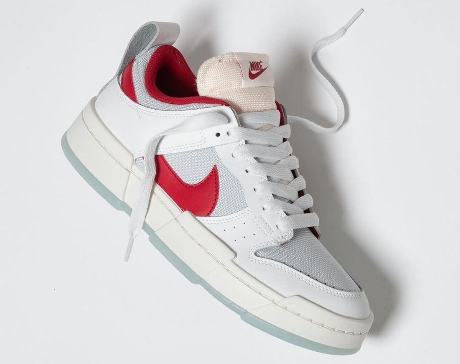 Women's Nike Dunk Low Disrupt blanche et rouge CK6654 101 (2)