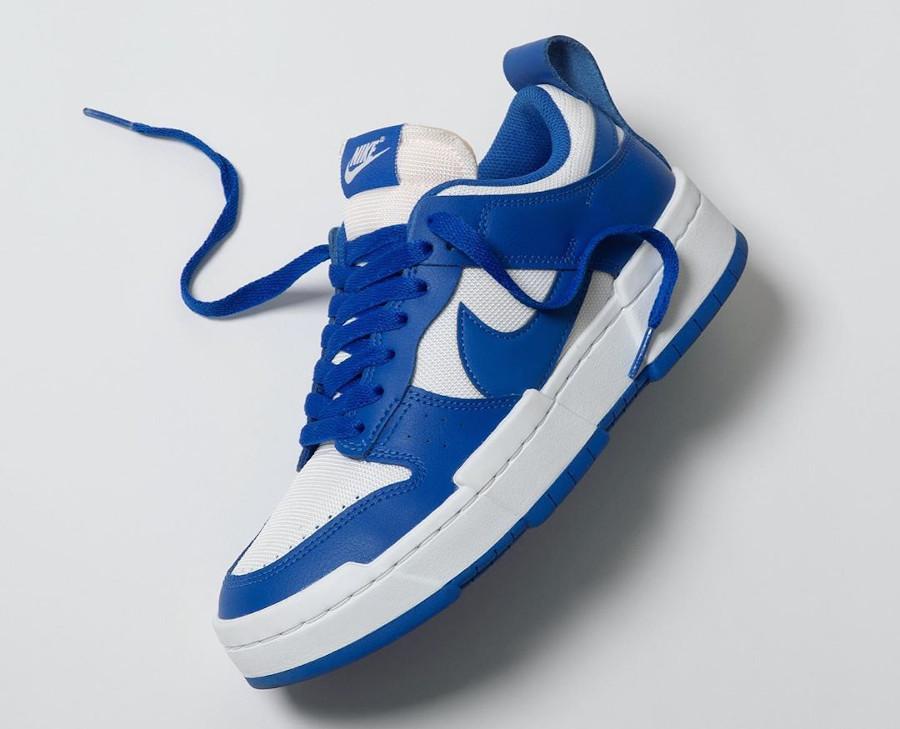 Women's Nike Dunk Low Disrupt bleu et blanche CK6654 100 (2)